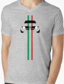 Simplistic Classic Italian coupe with verticle Italian stripes Mens V-Neck T-Shirt