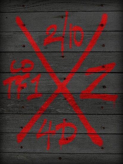 Dead Walking Zombie X-Code (BLACK) by Vincent Carrozza