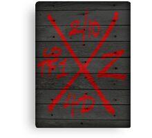 Dead Walking Zombie X-Code (BLACK) Canvas Print