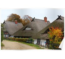 Three Thatched Roofs Poster