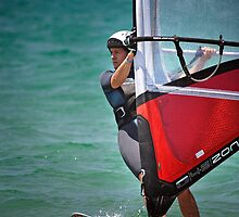 Windsurfing at Merimbula by Darren Stones