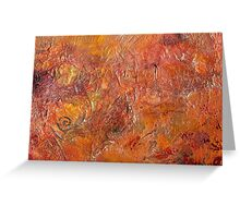 Gilded Orange Greeting Card