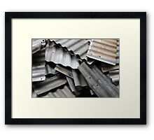 Scrap Metal Framed Print