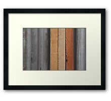 Hardwood on Metal Framed Print