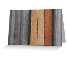 Hardwood on Metal Greeting Card