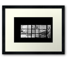Looking Through Yesterdays Window Framed Print