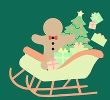 Gingerbread man in Sleigh #5 by simplepaperplan