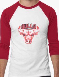 BULLS hand-drawing Men's Baseball ¾ T-Shirt