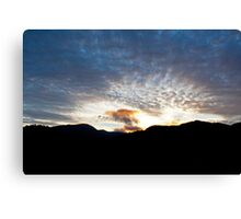 Langdale sunset Canvas Print