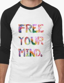 Free Your Mind Men's Baseball ¾ T-Shirt
