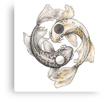 Ying and Yang Koi Canvas Print