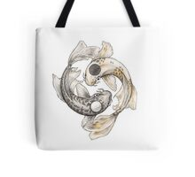 Ying and Yang Koi Tote Bag