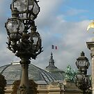 The Grand Palais from the Pont Alexander III by ChristineBetts