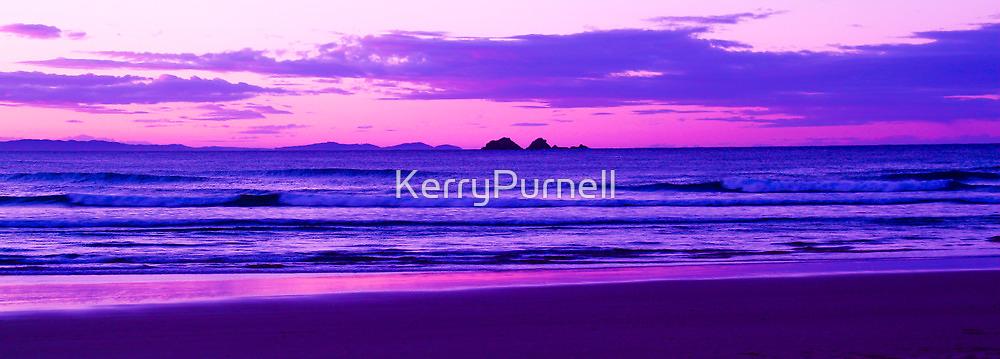 Sunset Over Julian Rocks Byron Bay by KerryPurnell
