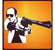 Hunter S Thompson - Gun Photographic Print