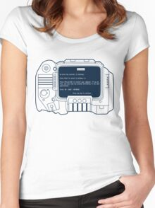 Windows for Pipboy Women's Fitted Scoop T-Shirt