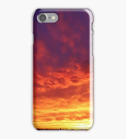 Sunset in the Big City  iPhone Case/Skin