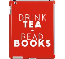 Drink Tea + Read Books (Red) iPad Case/Skin