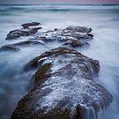 Dusk at 13th Beach by Julie Begg