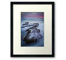 Dusk at 13th Beach Framed Print