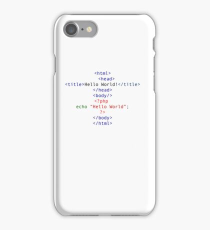 php Greeting for Nerds and Geeks iPhone Case/Skin