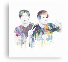 dan and phil Canvas Print