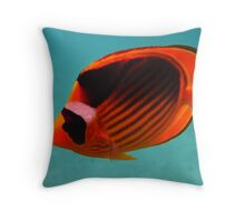 Butterfly fish (yellow and black) Throw Pillow