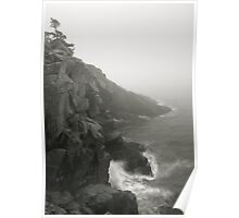 Sea Cliffs in the Mist Poster