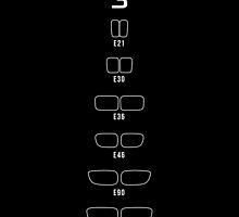 3 Series history, 1982-Present day (E21, E30, E36, E46, E90, F30) Kidney Grills by ApexFibers