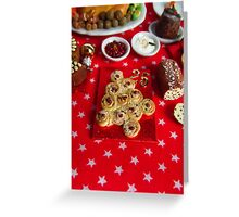 1/12th scale miniature Christmas Tree Bread Greeting Card
