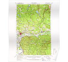 USGS Topo Map Washington State WA Monroe 242372 1956 62500 Poster