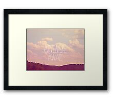 Adventure Awaits Framed Print