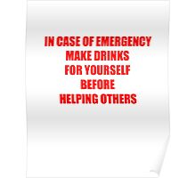 IN CASE OF EMERGENCY Poster