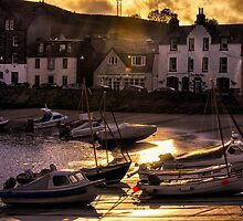 Stonehaven Harbour In The Evening.  by Doug Sim