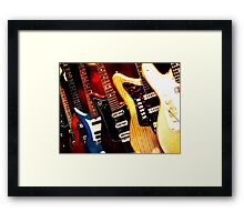 Little Guitars Framed Print