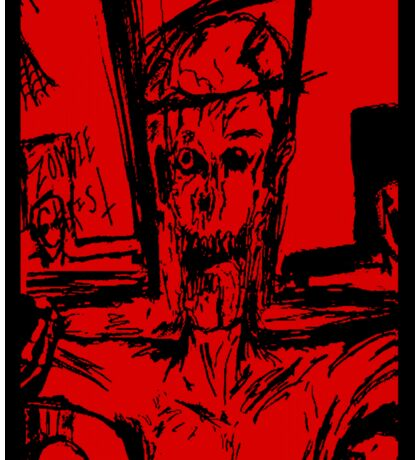 Zombie Christ (In Red) Sticker