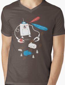 Robot love. Mens V-Neck T-Shirt