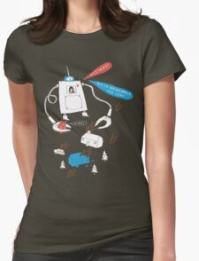 Robot love. Womens Fitted T-Shirt