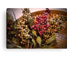Berry Basket Canvas Print