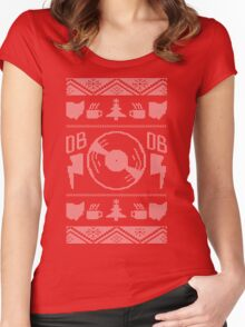 """Dudes Brunch """"Ugly"""" Christmas Sweater Women's Fitted Scoop T-Shirt"""