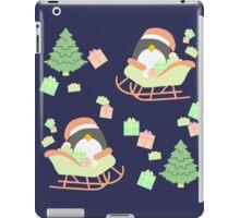 Penguin in Sleigh #2 iPad Case/Skin