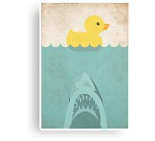 Jaws Rubber Duck Canvas Print
