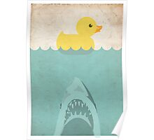 Jaws Rubber Duck Poster