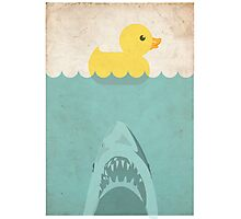 Jaws Rubber Duck Photographic Print