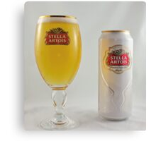 Stella Artois - Full glass Canvas Print