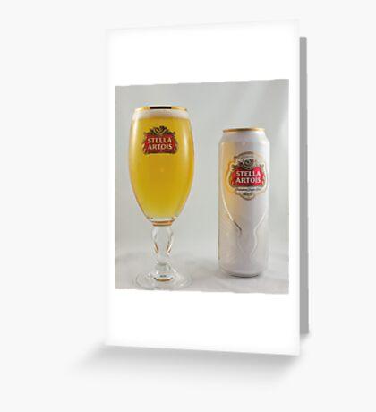 Stella Artois - Full glass Greeting Card