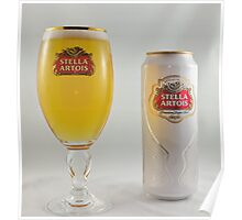Stella Artois - Full glass Poster