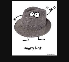 An angry hat on a black shirt Unisex T-Shirt
