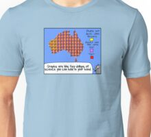 Graphs are like tiny dollops of science... Unisex T-Shirt