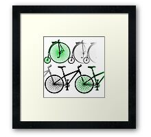 Cycles old and new Framed Print